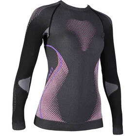 UYN Evolutyon Melange UW LS Shirt Women Anthracite Melange/Raspberry/Purple
